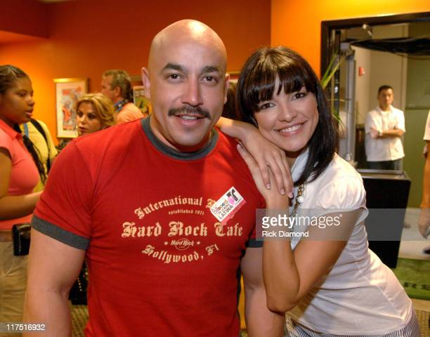 Lupillo Rivera and Candela Ferro during 2006 Billboard Latin Music Conference Awards Backstage Creations Talent Retreat Day 1 at The Seminole Hard...