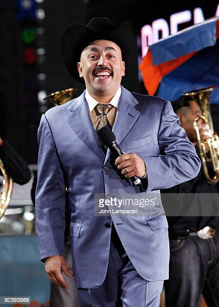Lupillo Rivera attends the Lo Mejor On Demand channel launch in Times Square on October 23 2009 in New York City