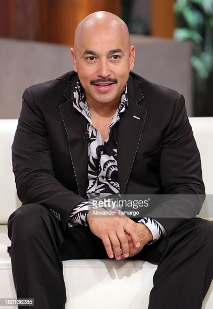 Lupillo Rivera is seen on the set of Telemundo's 'Un Nuevo Dia' at Telemundo Studio on September 9 2013 in Miami Florida