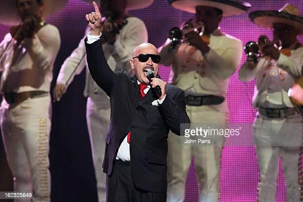Lupillo Rivera performs onstage at the 25th Anniversary of Univision's 'Premio Lo Nuestro A La Musica Latina' on February 21 2013 in Miami Florida