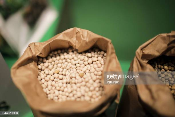 Lupin beans in a paper bag on February 06 2017 in Berlin Germany