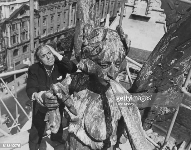 Lupino Lane new owner of the Gaiety Theatre in London oversees renovations to the building which was badly damaged during the Blitz of World War II...