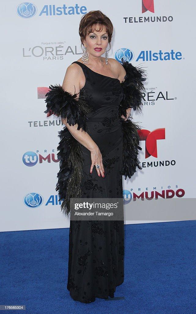 Lupita Ferrer attends Telemundo's Premios Tu Mundo Awards at American Airlines Arena on August 15, 2013 in Miami, Florida.
