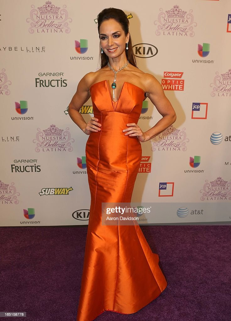 Lupita Jones attends Univisions Nuestra Belleza Latina Finalists Revealed at Univision Headquarters on March 31, 2013 in Miami, Florida.