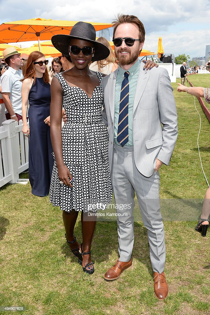 Lupita Nyong'o; Aaron Paul attend the seventh annual Veuve Clicquot Polo Classic in Liberty State Park on May 31, 2014 in Jersey City City.