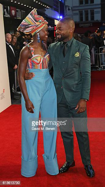 Lupita Nyong'o and David Oyelowo attend the 'Queen Of Katwe' Virgin Atlantic Gala screening during the 60th BFI London Film Festival at Odeon...