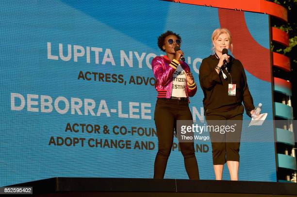 Lupita Nyong'o and DeborraLee Furness performs onstage during the 2017 Global Citizen Festival For Freedom For Justice For All in Central Park on...
