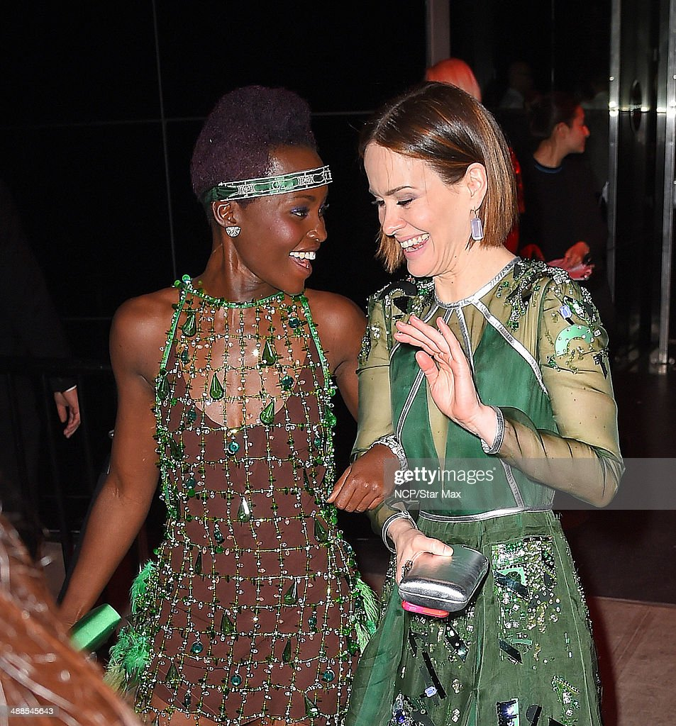 <a gi-track='captionPersonalityLinkClicked' href=/galleries/search?phrase=Lupita+Nyong%27o&family=editorial&specificpeople=10961876 ng-click='$event.stopPropagation()'>Lupita Nyong'o</a> and <a gi-track='captionPersonalityLinkClicked' href=/galleries/search?phrase=Sarah+Paulson&family=editorial&specificpeople=220657 ng-click='$event.stopPropagation()'>Sarah Paulson</a> are seen at the after-party for The Costume Institute Benefit Gala on May 5, 2014 in New York City.