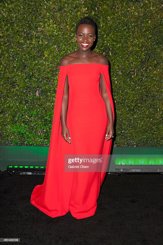 <a gi-track='captionPersonalityLinkClicked' href=/galleries/search?phrase=Lupita+Nyong%27o&family=editorial&specificpeople=10961876 ng-click='$event.stopPropagation()'>Lupita Nyong'o</a> arrives for Fox And FX's 2014 Golden Globe Awards Party - Arrivals on January 12, 2014 in Beverly Hills, California.