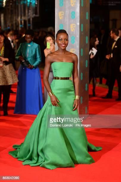 Lupita Nyong'o arriving at The EE British Academy Film Awards 2014 at the Royal Opera House Bow Street London