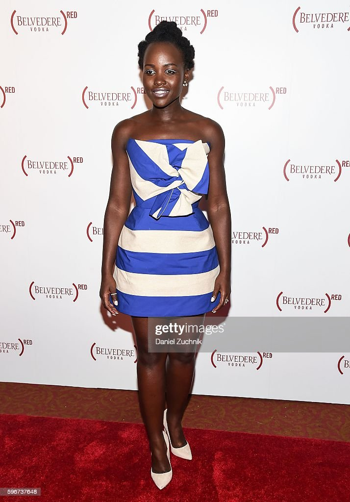 Lupita Nyong'o attends Belvedere Presents One Night for Life with John Legend at The Apollo Theater on August 27 2016 in New York City