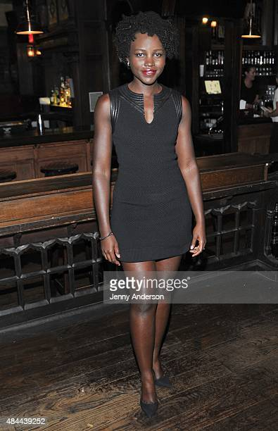 Lupita Nyong'o attends 'Informed Consent' opening night after party at Tir Na Nog on August 18 2015 in New York City
