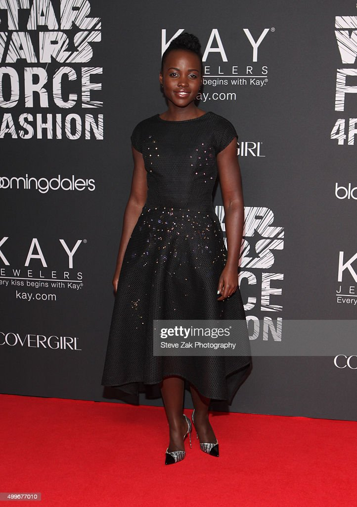 Lupita Nyong'o attends Star Wars 'Force 4 Fashion' launch event at Skylight Modern on December 2, 2015 in New York City.