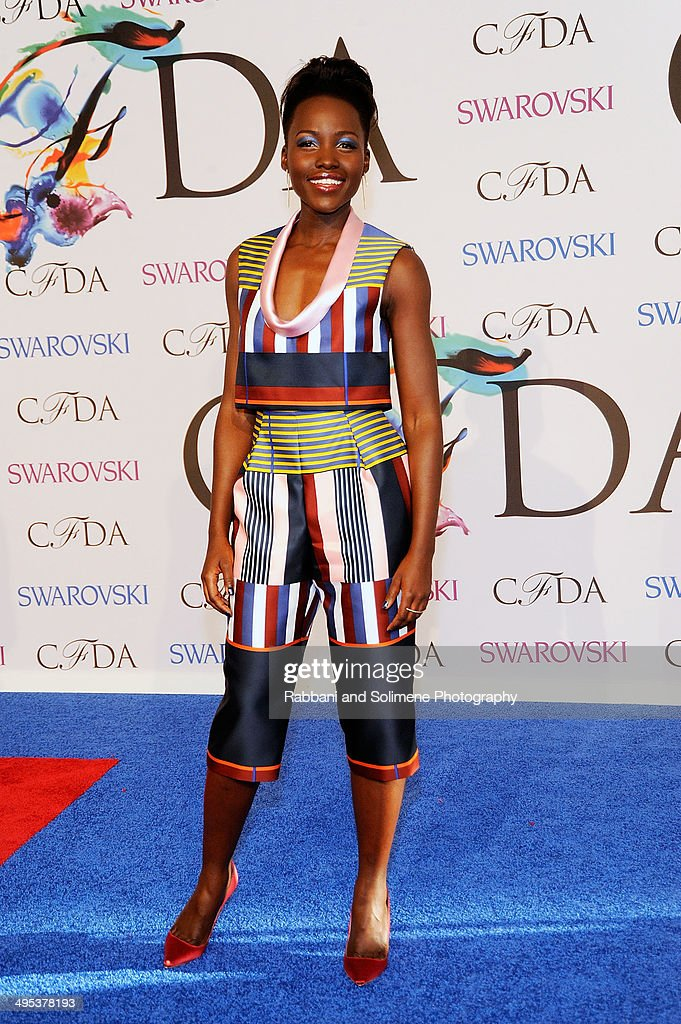 <a gi-track='captionPersonalityLinkClicked' href=/galleries/search?phrase=Lupita+Nyong%27o&family=editorial&specificpeople=10961876 ng-click='$event.stopPropagation()'>Lupita Nyong'o</a> attends the 2014 CFDA fashion awards at Alice Tully Hall, Lincoln Center on June 2, 2014 in New York City.