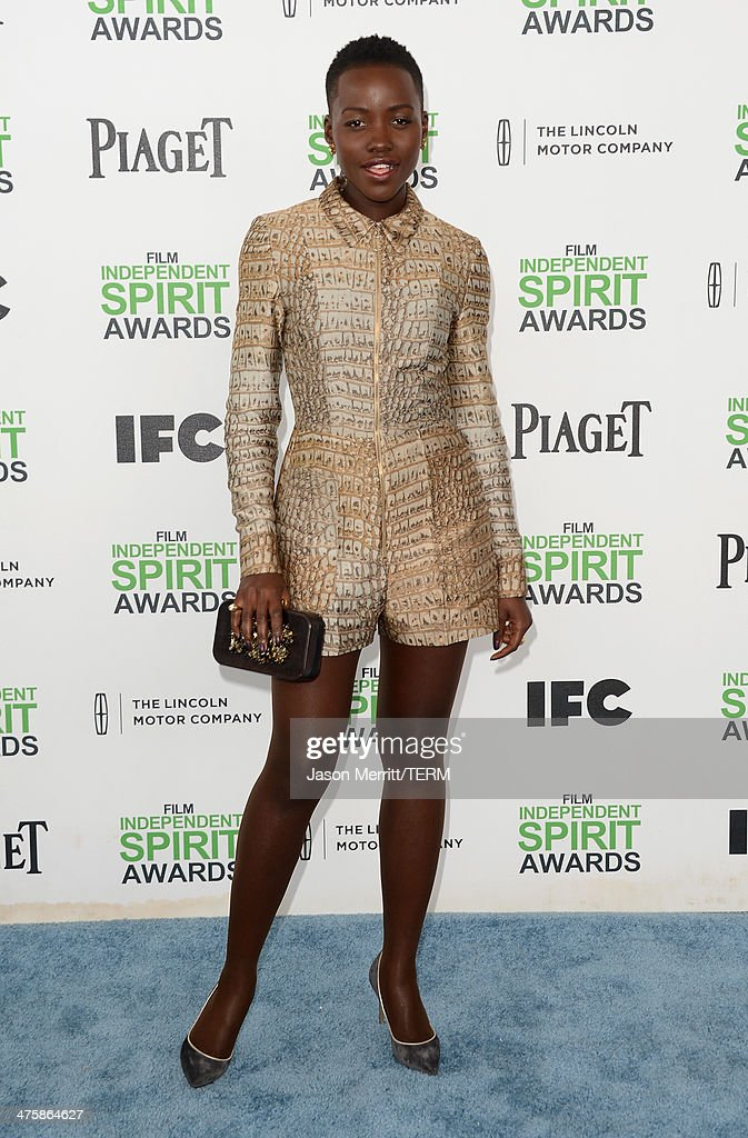 Lupita Nyong'o attends the 2014 Film Independent Spirit Awards at Santa Monica Beach on March 1, 2014 in Santa Monica, California.