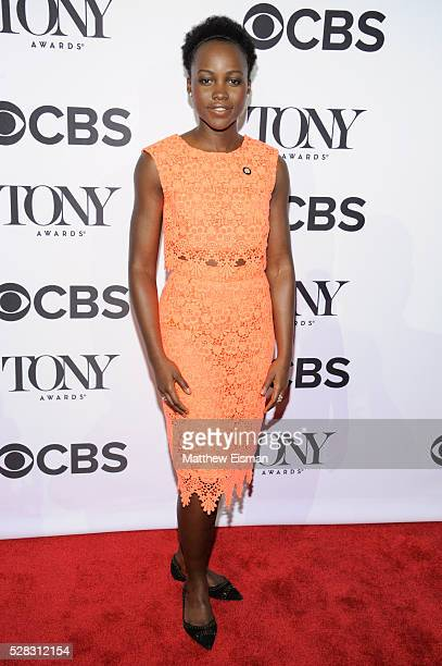 Lupita Nyong'o attends the 2016 Tony Awards Meet The Nominees Press Junket at Diamond Horseshoe at the Paramount Hotel on May 4 2016 in New York City