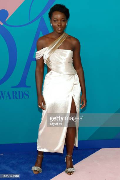 Lupita Nyong'o attends the 2017 CFDA Fashion Awards at Hammerstein Ballroom on June 5 2017 in New York City