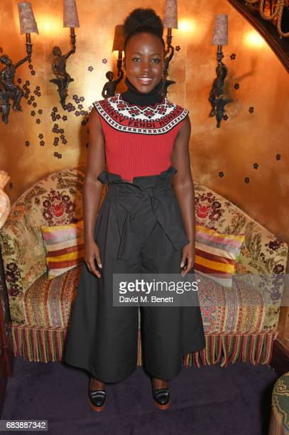 Lupita Nyong'o attends the 'Can't Stop Won't Stop A Bad Boy Story' dinner hosted by Sean 'Diddy' Combs Naomi Campbell presented by Apple Music at...