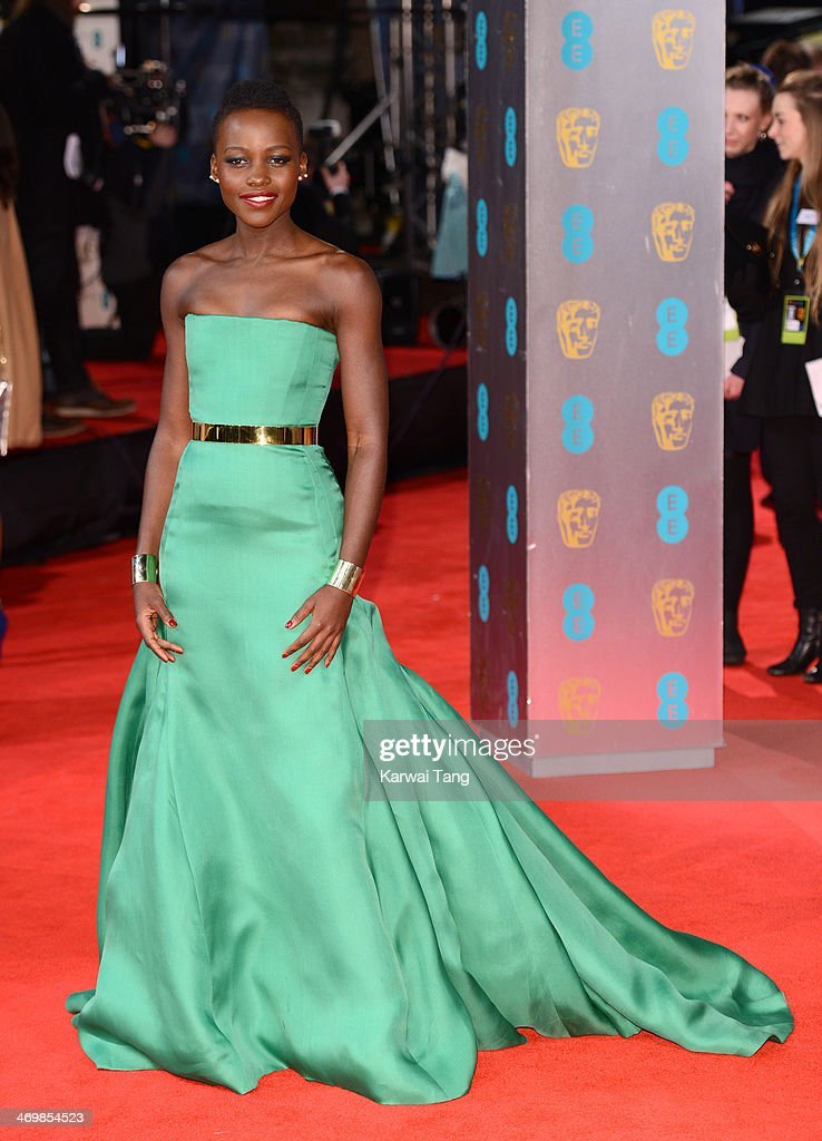 Lupita Nyong'o attends the EE British Academy Film Awards 2014 at The Royal Opera House on February 16, 2014 in London, England.