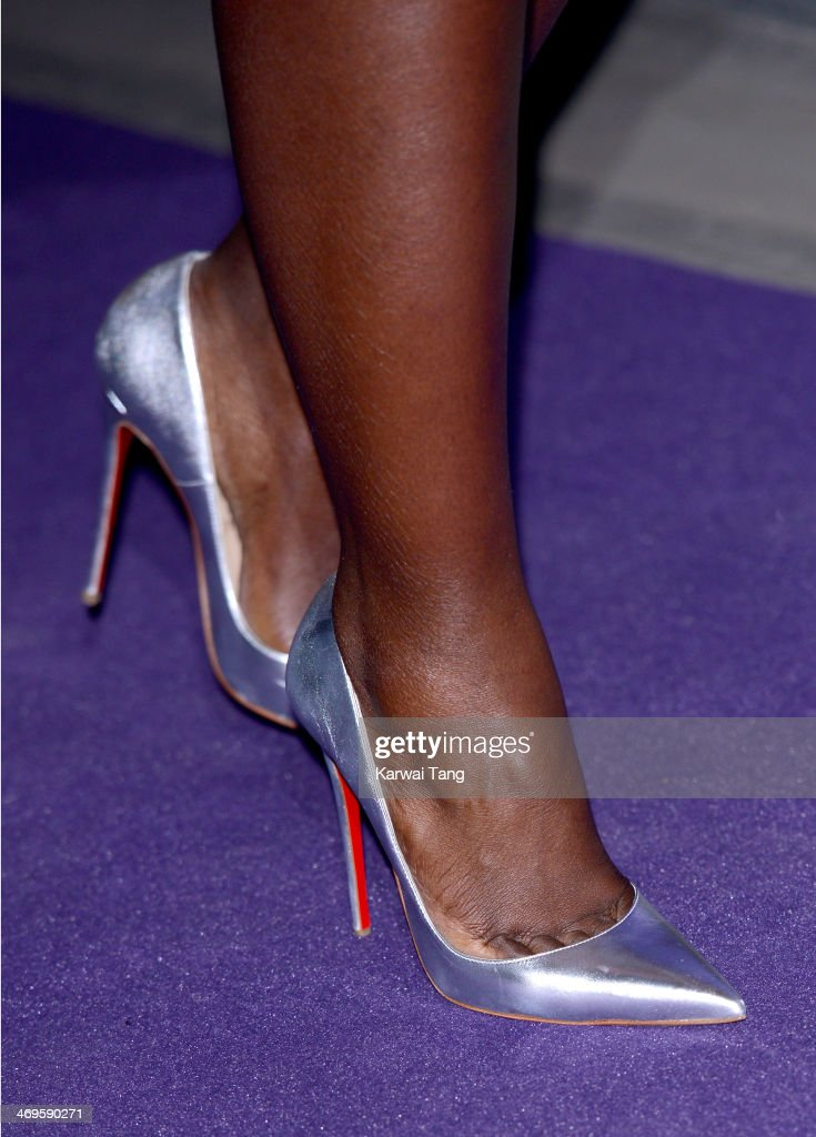 Lupita Nyong'o (shoe detail) attends the EE British Academy Film Awards Nominees Party at Asprey London on February 15, 2014 in London, England.