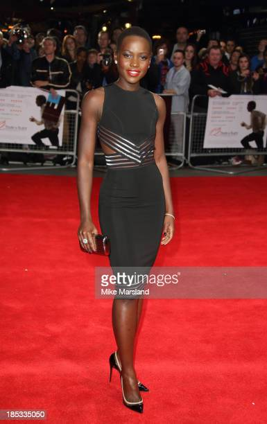 Lupita Nyong'o attends the European Premiere of 'Twelve Years A Slave' during the 57th BFI London Film Festival at Odeon Leicester Square on October...