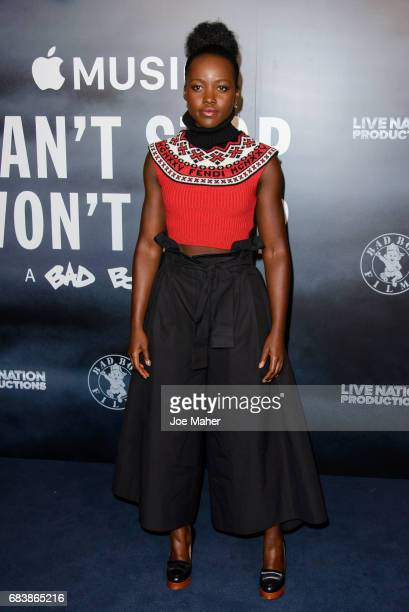 Lupita Nyong'o attends the London Screening of 'Can't Stop Won't Stop A Bad Boy Story' at The Curzon Mayfair on May 16 2017 in London England