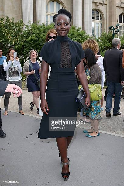 Lupita Nyong'o attends the Maison Margiela show as part of Paris Fashion Week Haute Couture Fall/Winter 2015/2016> on July 8 2015 in Paris France