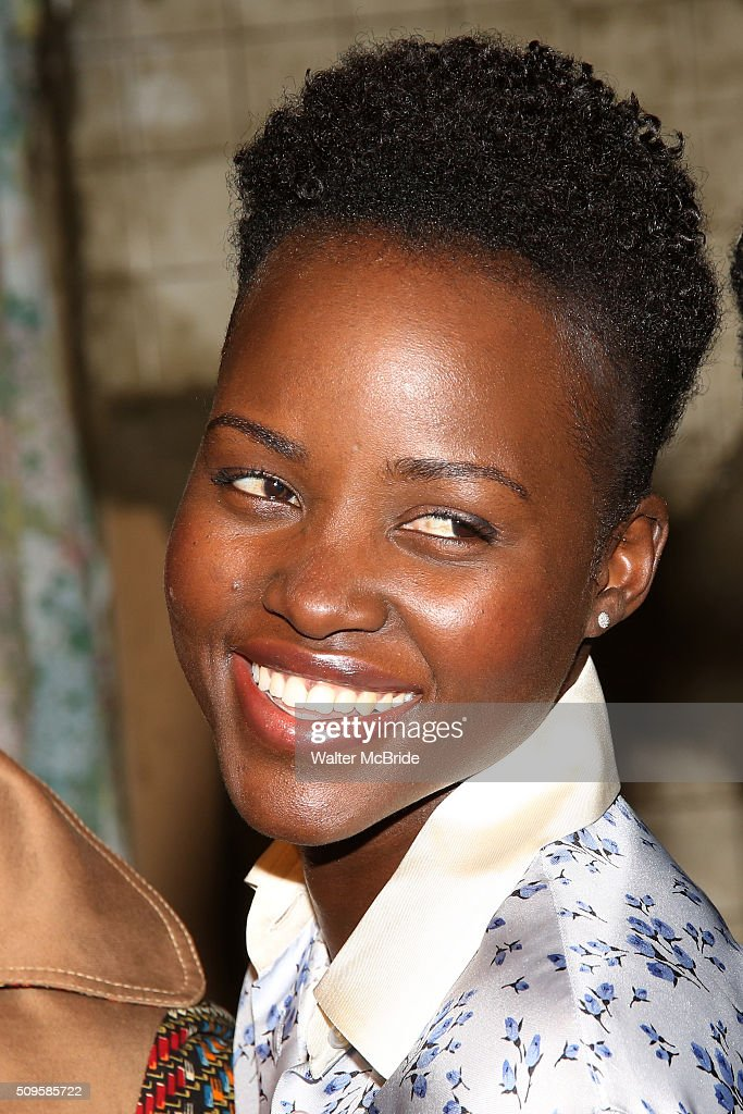 <a gi-track='captionPersonalityLinkClicked' href=/galleries/search?phrase=Lupita+Nyong%27o&family=editorial&specificpeople=10961876 ng-click='$event.stopPropagation()'>Lupita Nyong'o</a> attends the meet and greet the all-female cast and creative team and launch of the 10,000 girls initiative of Broadway's 'Eclipsed' at the Golden Theatre on February 11, 2016 in New York City.