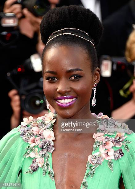 Lupita Nyong'o attends the opening ceremony and premiere of 'La Tete Haute' during the 68th annual Cannes Film Festival on May 13 2015 in Cannes...