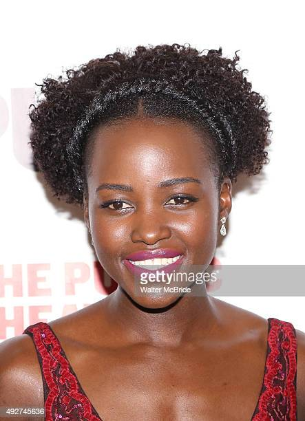 Lupita Nyong'o attends the Opening Night Celebration for 'Eclipsed' at the Public Theatre on October 14 2015 in New York City