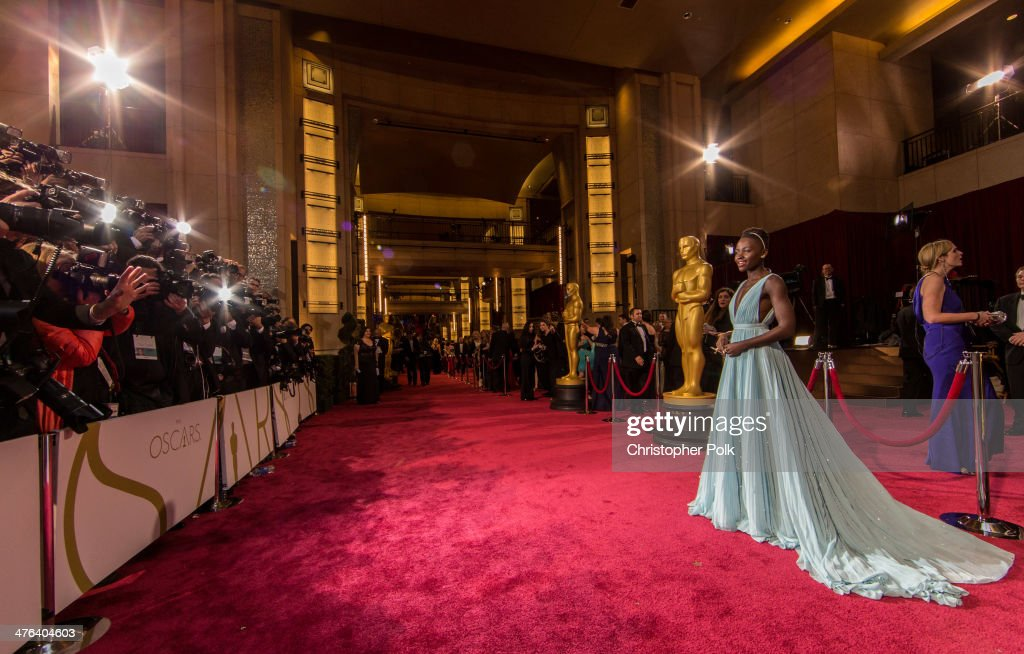 <a gi-track='captionPersonalityLinkClicked' href=/galleries/search?phrase=Lupita+Nyong%27o&family=editorial&specificpeople=10961876 ng-click='$event.stopPropagation()'>Lupita Nyong'o</a> attends the Oscars at Hollywood & Highland Center on March 2, 2014 in Hollywood, California.