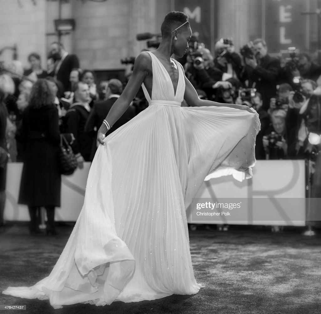 Lupita Nyong'o attends the Oscars at Hollywood & Highland Center on March 2, 2014 in Hollywood, California.