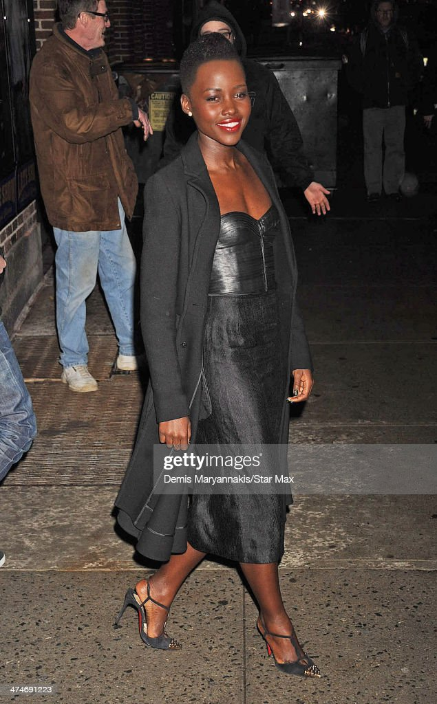 <a gi-track='captionPersonalityLinkClicked' href=/galleries/search?phrase=Lupita+Nyong%27o&family=editorial&specificpeople=10961876 ng-click='$event.stopPropagation()'>Lupita Nyong'o</a> is seen on February 19, 2014 in New York City.