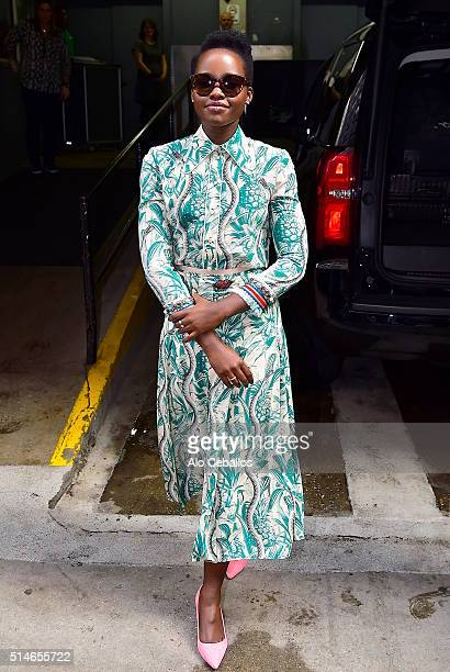 Lupita Nyong'o is seen on March 10 2016 in New York City