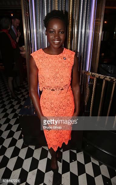 Lupita Nyong'o poses at The 70th Annual Tony Awards Meet The Nominees Press Junket at The Diamond Horseshoe at the Paramount Hotel on May 4 2016 in...