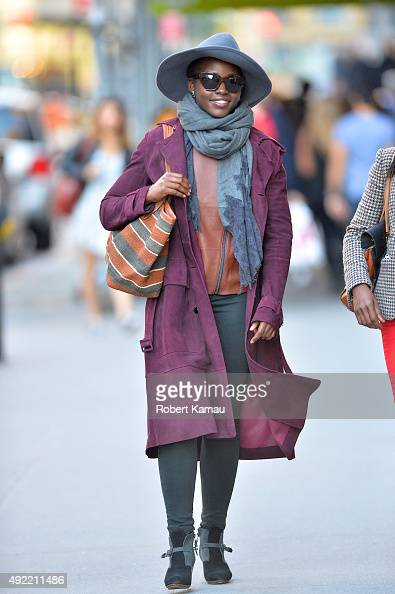 Lupita Nyongo seen walking on October 10 2015 in New York City