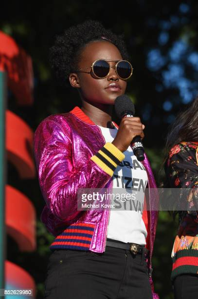 Lupita Nyong'O speaks onstage during Global Citizen Festival 2017 at Central Park on September 23 2017 in New York City