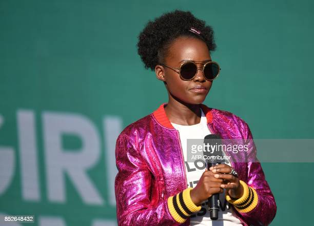 Lupita Nyong'o speaks onstage during the 2017 Global Citizen Festival For Freedom For Justice For All in Central Park on September 23 2017 in New...