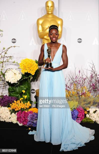 Lupita Nyong'o with her Best Supporting Actress award in the press room of the 86th Academy Awards held at the Dolby Theatre in Hollywood Los Angeles...