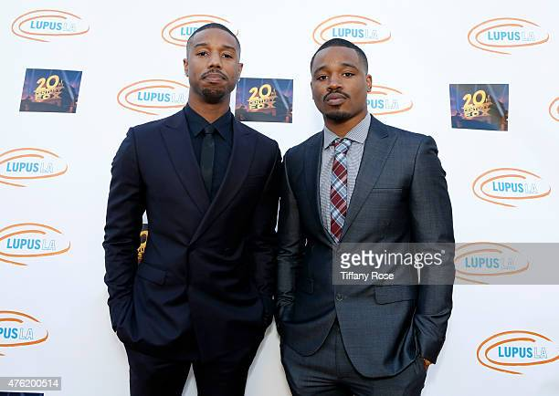 Lupus LA Ambassador Michael B Jordan and director Ryan Coogler attend the Lupus LA Orange Ball and a Night of Superheroes at the Fox Studio lot on...