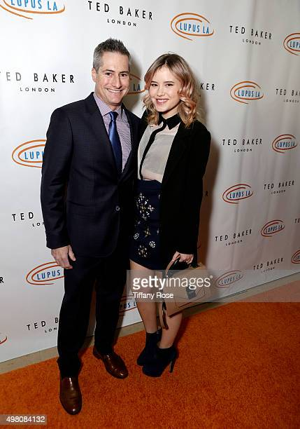 Lupus LA Chairman of the Board Adam Selkowitz and actress Taylor Spreitler attend the Hollywood Bag Ladies Luncheon to benefit Lupus LA at The...