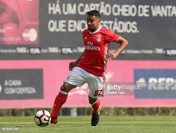 Luquinhas of SL Benfica B in action during the Segunda Liga match between SL Benfica B and FC Porto B at Caixa Futebol Campus on April 23 2017 in...