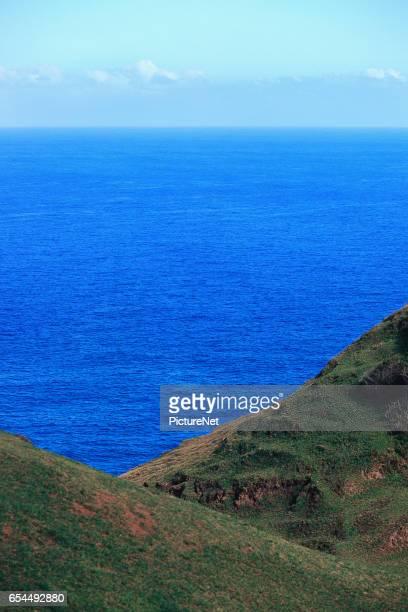 Lush Rolling Hills on a Tropical Island