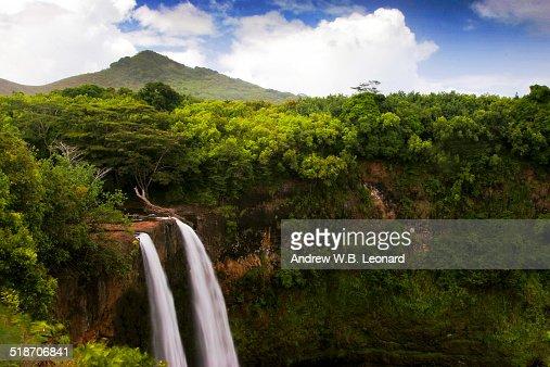 Lush Scenic Waterfall
