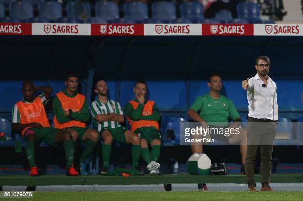 Lusitano Ginasio Clube head coach Duarte Machado from Portugal in action during the Portuguese Cup match between Lusitano Ginasio Clube and FC Porto...