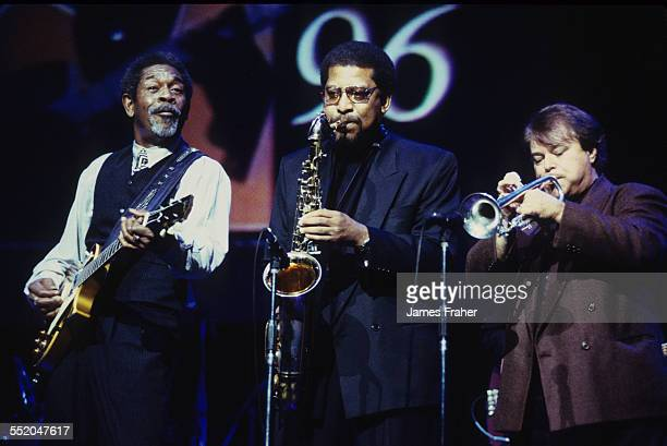 Luther Allison performs on stage at the WC Handy Awards in 1996 in Memphis Tennessee United States