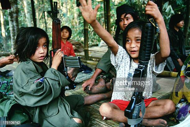 Luther and twin brother Johnny Htoo in Kamerplaw southern Burma headquarters of God's Army The tiny teens were believed to possess magical powers...