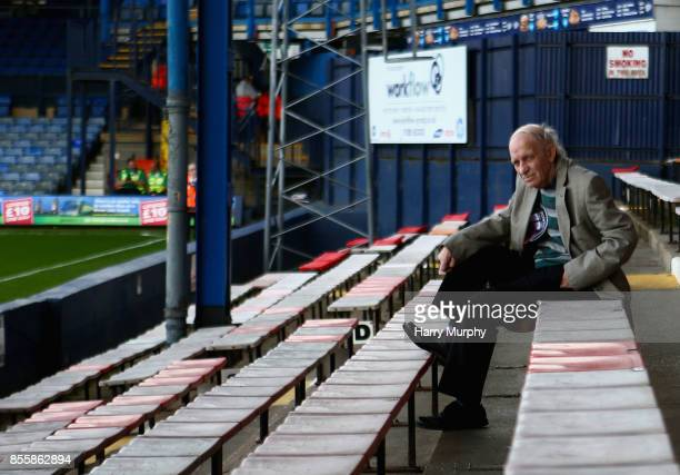Luton Town fan awaits kick off prior to the Sky Bet League Two match between Luton Town and Newport County at Kenilworth Road on September 30 2017 in...