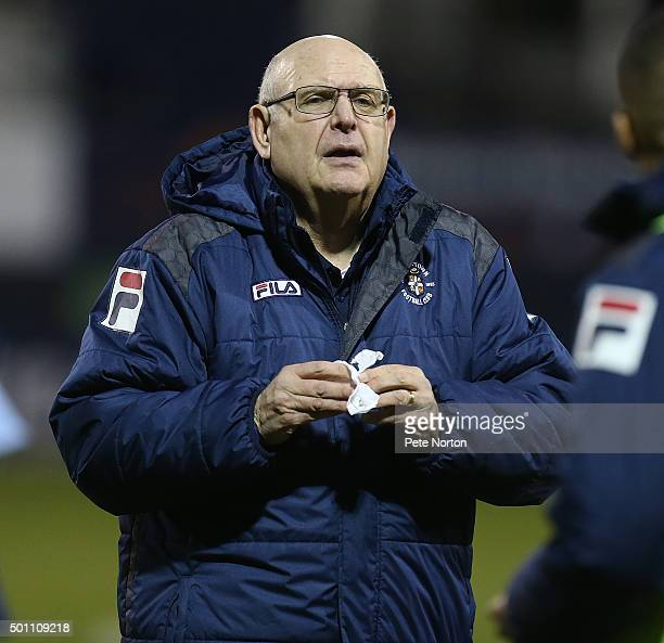 Luton Town manager John Still dejectedly leaves the pitch at the end of the match during the Sky Bet League Two match between Luton Town and...