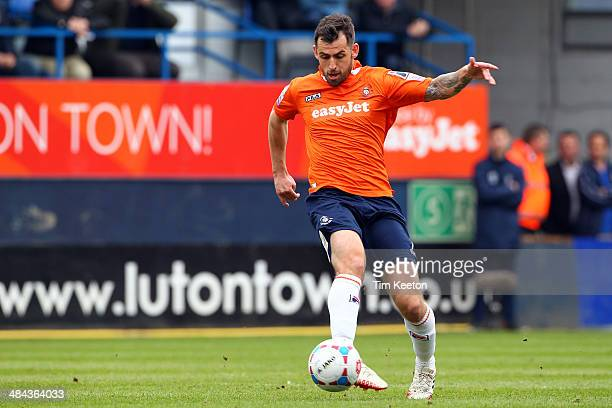 Luton Town's Alex Lawless in action during the Skrill Conference Premier match between Luton Town and Braintree Town at Kenilworth Road on April 12...